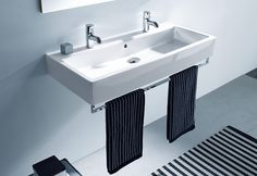 The Vero double basin by Duravit is slightly different as it is the width of two…