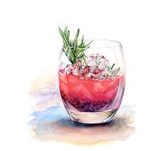 Watercolor Drinks and Deserts on Behance