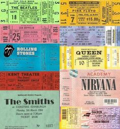 Nirvana Oasis Led Zeppelin The Smiths Pink Floyd The Doors Beatles Rolling Stones Queen...