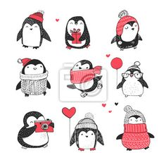 Vinilos pingüinos Pixers