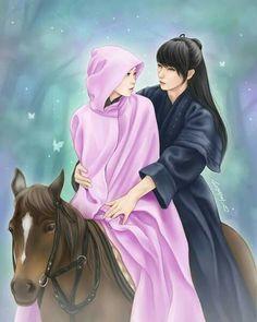 Image: image about fanart in korean drama by metoo Korean Art, Asian Art, Korean Drama, Moon Lovers Cast, Scarlet Heart Ryeo Wallpaper, Kdrama, Anime Korea, Korean Painting, Cute Couple Art