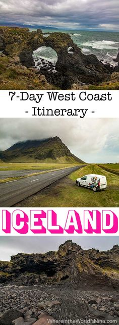 Here's the best West Coast of Iceland itinerary! Grab this Iceland guide and your keys, you're going on an Iceland road trip! This is NOT another Ring Road itinerary, this is a road trip for those wanting see tons of things to do in Iceland without seeing the exact same things as everyone else. Still epic landscapes and tons of Iceland waterfalls to enjoy! Don't lost this pin! Save it for later. #Iceland #itinerary #roadtrip #IcelandRoadTrip #travelIceland