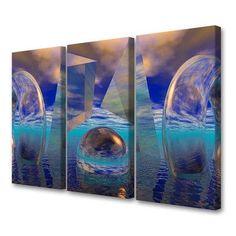 Menaul Fine Art 'Triptych' by Scott J. Menaul 3 Piece Graphic Art on Wrapped Canvas Set Size: