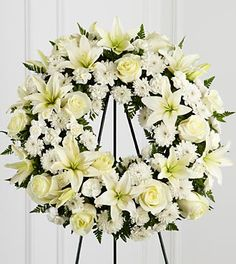 Treasured Tribute Wreath #treasured #beautiful #white