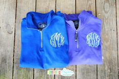 Monogrammed Quarter Zip Sweatshirt by CharlestonMonograms on Etsy, $32.00