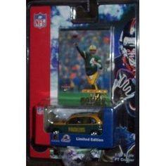 Green Bay Packers 2001 Fleer/White Rose NFL Diecast Chrysler PT Cruiser featuring Brett Favre trading card by Fleer  $17.50