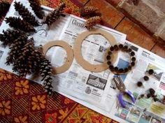 Monday's Make-it …{ Awesome Pine Cone Wreaths } - Ada's Interior DesignAda's Interior Design