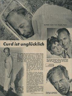 """Nachlass Curd Jürgens   Bravo: """"Curd ist unglücklich"""", 21.10.1956"""