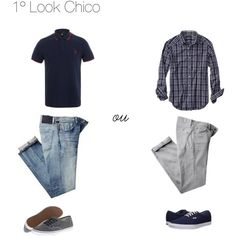 """1º look Chico"" by flaviadebom on Polyvore"
