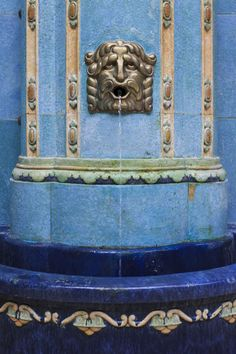 A decorated fountain in (we think) the Gellért Baths in Budapest, Hungary