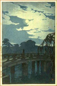 hiroshi yoshida. did he honestly just woodcut moonlight?