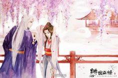 Eternal Love Drama, Chinese Wallpaper, Chinese Drawings, Manga Eyes, Fantasy Couples, Fantasy Drawings, Beautiful Fantasy Art, Anime Love Couple, China Art