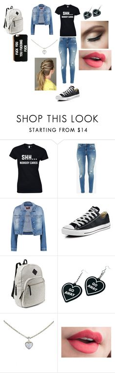 """""""Shut up"""" by malaysiasmith21 on Polyvore featuring Ted Baker, 7 For All Mankind, Converse, Steve Madden, Witch Worldwide and Cartier"""