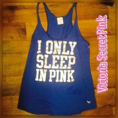 "Victoria's Secret pink medium Razorback tank top size medium Victoria's Secret pink quotation marks I only sleep in pink"" perfect condition PINK Victoria's Secret Tops Tank Tops"