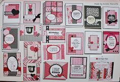 29 cards from one 6x6 paper pad - I need to try this!