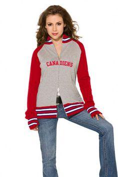 Montreal Canadiens Women's Varsity Full Zip Raglan Jacket - Touch by Alyssa Milano Montreal Canadiens, Alyssa Milano, Chicago Cubs, Hoodies, Sweatshirts, Autumn Fashion, Graphic Sweatshirt, Zip, Celebrities