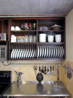 Gwendolyn's Industrial Cozy Kitchen — Small Cool Kitchens 2013 Gwendolyn's Industrial Cozy K Diy Kitchen Storage, Cozy Kitchen, Kitchen Gifts, Home Decor Kitchen, Rustic Kitchen, Kitchen Furniture, Kitchen Interior, New Kitchen, Home Kitchens