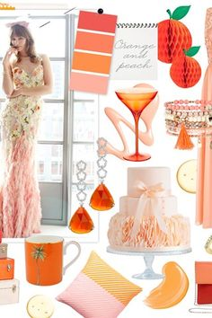 Wedding colour scheme: Orange and peach | Your and Your Wedding