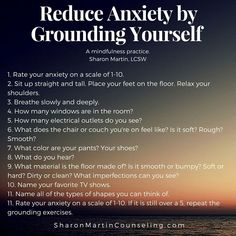 Grounding Exercise to Reduce Anxiety or Negative Feelings Deal With Anxiety, Anxiety Tips, Anxiety Help, Social Anxiety, Stress And Anxiety, Overcoming Anxiety, Things To Help Anxiety, Quotes About Anxiety, Yoga Meditation