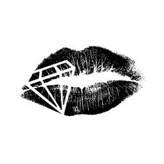 Diamond Lips   diamond lips design Dope Tattoos, Bild Tattoos, Small Tattoos, Tattoos Of Lips, Lips Tattoo Ideas, Tattos, Tattoo Design Drawings, Tattoo Sketches, Diamonds Tattoo