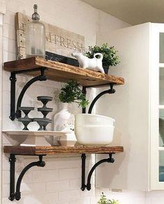 nice 88 Incredible DIY Kitchen Open Shelving Ideas https://homedecort.com/2017/05/88-incredible-diy-kitchen-open-shelving-ideas/