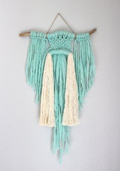"""Macrame Wall Hanging """"Spirited Away no.22"""" by HIMO ART, One of a kind Handcrafted Macrame/Rope art"""
