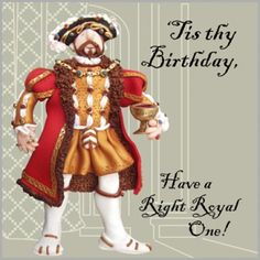 Holy Mackerel Henry VIII birthday card