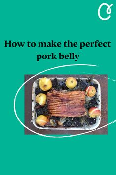 Make the most of the season's produce with the help of chef and food writer, Gill Meller. This month, he shares his roast pork belly recipe. Paired with apples and black pudding, it's the perfect, slow-cooked Sunday supper. Roasted Pork Belly Recipe, Pork Belly Roast, Pork Belly Recipes, Pork Roast, Diet Recipes, Longest Recipe, Black Pudding, Sunday Suppers, Meat Lovers