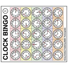 ESL Clock Bingo from ESL_Classroom on TeachersNotebook.com -  (12 pages)  - This pdf file includes 12 Clock Bingo game boards and 40 images for use as draw cards.
