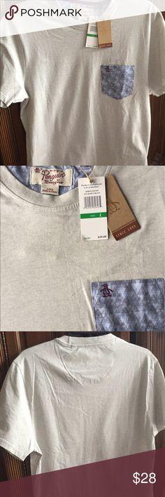 NWT. Mens Penguin short sleeved shirt. LG New with tags. Mens Penguin short sleeved shirt. LG. Original Penguin Shirts Tees - Short Sleeve