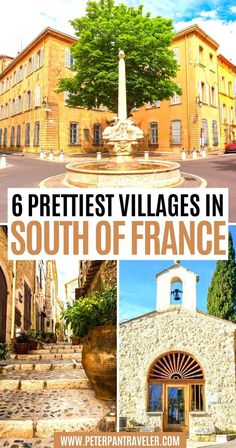 6 Prettiest Villages in South of France. Are you looking to Travel to the South of France? Do you want the perfect Itinerary for your France vacation? Here is a list of the best villages in the South of France   South of France Villages   Best Villages in South of France   Best Villages South France   South of France Itinerary   South of France Travel   South of France Travel Bucket Lists   South of France Travel Destinations #villages #travel #southoffrance #france Paris Travel Tips, Europe Travel Guide, France Travel, Travel Destinations, Travel Goals, Travel Ideas, Visit France, South Of France, European Vacation