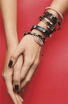 Cara Accessories Leather Wrap Bracelet | Nordstrom