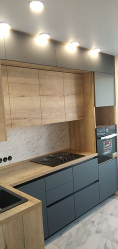 Minimal Kitchen Design, Kitchen Room Design, Contemporary Kitchen Design, Kitchen Cabinet Design, Kitchen Decor, Small House Interior Design, Interior Design Kitchen, Luxury Kitchens, Home Kitchens