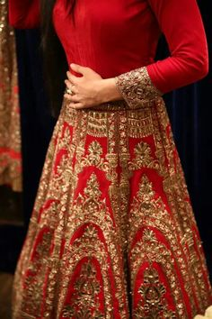 I generally would never have liked a red lehenga. Red being such a cliche bridal lehenga color. Bridal Lehenga, Red Lehenga, Anarkali, Sabyasachi Lehengas, Indian Lehenga, Pakistani Dresses, Indian Dresses, Indian Outfits, Bridal Outfits