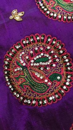 Blouse Designs, Sarees, Embellishments, Blouses, Brooch, Embroidery, Bridal, Jewelry, Fashion