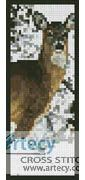 Deer in snow Bookmark Counted Cross Stitch Pattern http://www.artecyshop.com/index.php?main_page=product_info&cPath=26&products_id=1402
