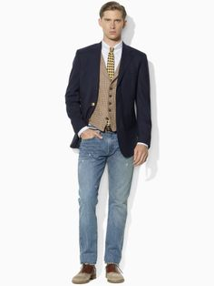 Two-Button Navy Blazer - Polo Ralph Lauren Sport Coats - RalphLauren.com