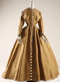 Dress 1864, American, Made of cotton