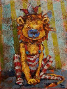 """Leo""tard by Angie Rees Acrylic ~ 8"" x 6"""