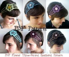 I'm wondering if Nora could hook me up with a crochet headband?!?  Crochet Pattern PDF Flower Headband Women Easy How-to. $3.00, via Etsy.