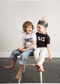 Wild Boys and Girls: Monochrome Apparel and Timeless Graphics- Petit & Small
