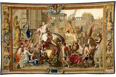 For the past year, The Getty Center in Los Angeles has celebrated the reign of Louis XIV during the tercentenary of his death. Woven Gold: Tapestries of Louis XIV, which opened on December 2015 and runs until May is the last major event in this program. Louis Xiv, Rococo, Baroque, National Palace Museum, Medieval Tapestry, Palace Of Versailles, Shabby Chic Crafts, Exhibition, Historical Art