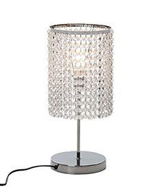 Table Lamp For Living Room Bedroom Contemporary Modern Decor Chrome Elegant Faux for sale online Bedside Table Lamps, Beaded Lamps, Table Lamp, Lamps Living Room, Crystal Table Lamps, Silver Table Lamps, Rustic Lamps, Retro Lamp, Modern Lamp