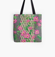 Clematis Trellis, Designer Totes, Mask For Kids, Iphone Wallet, Reusable Tote Bags, Art Prints, Canvas, Printed, Awesome