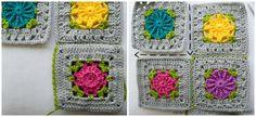 joining crochet squares diagonally