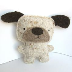 Stuffed dog -- by sighfoo on etsy