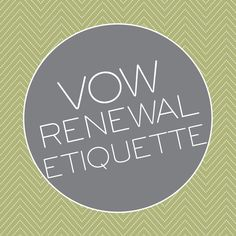 A quick guide to vow renewal etiquette - Advice and Ideas | Invitations By Dawn