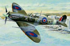 Supermarine Spitfire Mk V b kapitan Jan Zumbach (13 zwycięstw) 303 Dywizjon Myśliwski Warszawski im. Tadeusza Kościuszki. Wrzesień 1942