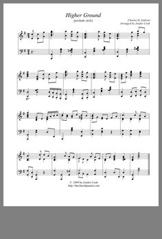 Learn Piano Sheet Music Higher Ground (Prelude Style) ~ Sheet Music for Piano Easy Piano Sheet Music, Free Sheet Music, Piano Music, Music Sheets, Sound Of Music, Music Love, Precious Moments Quotes, Church Songs, Music Writing