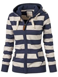Gorgeous stripes on this hoodie for Ladies! #hoodies #women